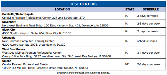 Iowa Insurance Exam Test Centers