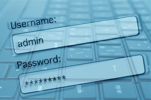 user name and password login screen